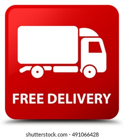 Free delivery red square button