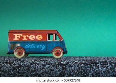 Spedizione gratuita, camion giocattolo vintage