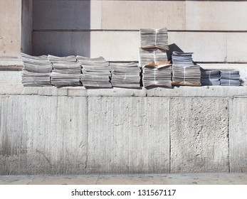 Free newspapers ready for dispatch and delivery in London, UK