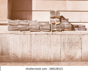 Free newspapers ready for dispatch and delivery in London, UK vintage