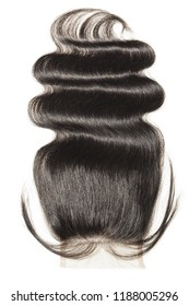 Free part body wavy black human hair weaves extensions lace closure