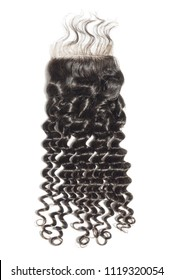 free part deep wave curly black human hair weaves extensions lace closoure