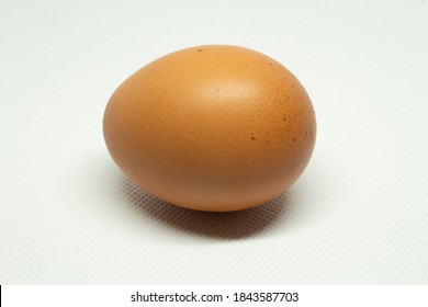 Free range egg from free range chickens on white background