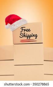 free shipping against orange vignette