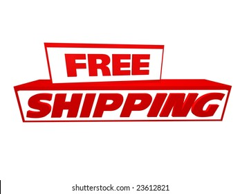 free shipping icon in 3D digital