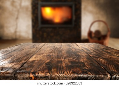 free space on table and fire