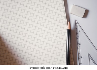 free space and stationery for office and education background