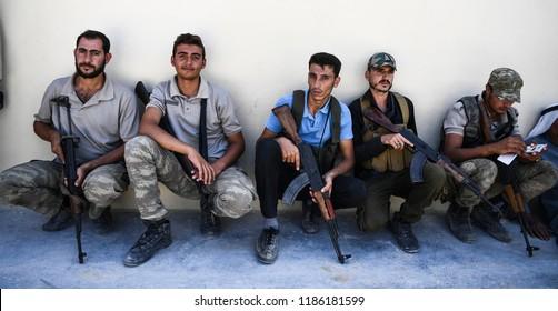 Free Syria Army (FSA) in Syria. 21 SEPTEMBER 2018. Idib at Syria