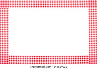free text space label tag and red and white checkered frame