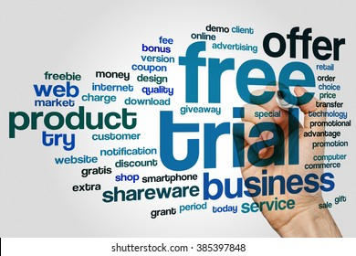 Free trial concept word cloud background