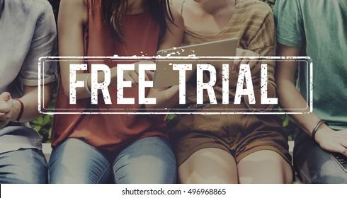 Free Trial Demo Offer Special Testing Bonus Concept
