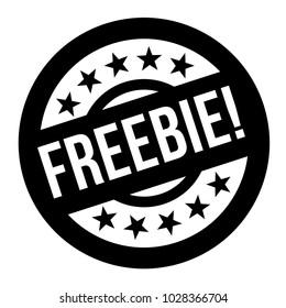 FREEBIE stamp. Typographic sign, stamp or logo