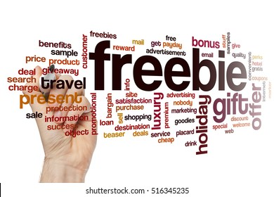 Freebie word cloud concept