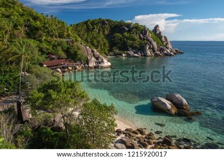 Freedom Beach On Koh Tao Thailand Stock Photo Edit Now 1215920017