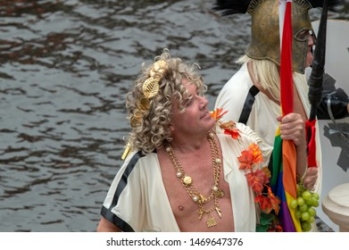 Freedom For Everyone Boat At The Gaypride Amsterdam The Netherlands 2019