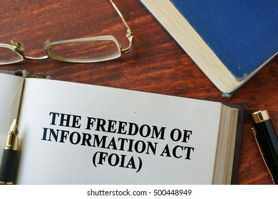 The Freedom of Information Act (FOIA) written on a page.