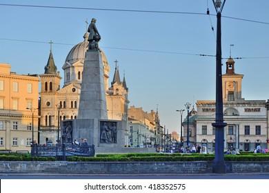 Freedom Square. Lodz, Poland