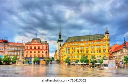 Freedom Square, the main square of Brno in Moravia, Czech Republic