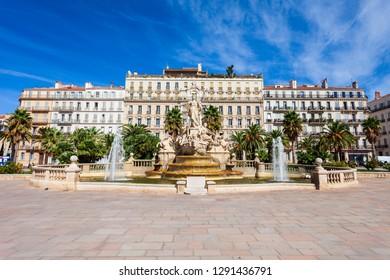 Freedom Square or Place de la Liberte in the centre of Toulon city in France