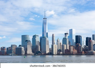 The Freedom Tower and Lower Manhattan Skyline as seen from Liberty State Park in New Jersey on March 6, 2016.
