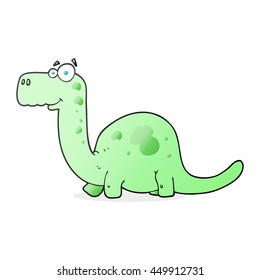 freehand drawn cartoon dinosaur