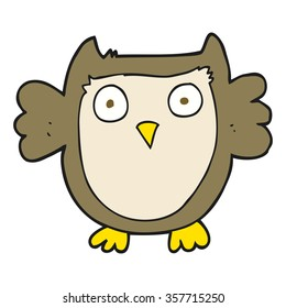 freehand drawn cartoon owl