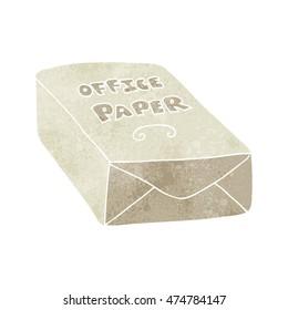 freehand retro cartoon office paper