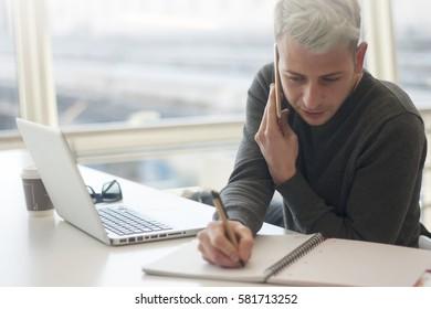freelance man student study