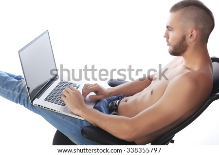 Computer backgrounds naked guy