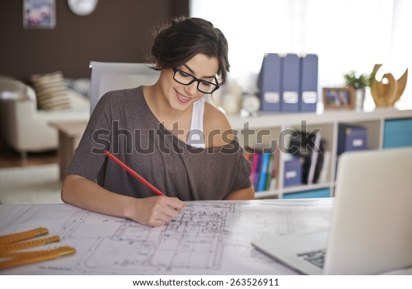 Freelancer during the work in home office