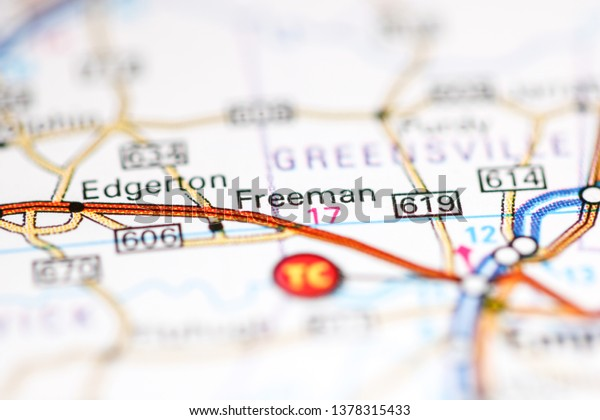 Freeman Virginia Usa On Geography Map Stock Photo (Edit Now ...