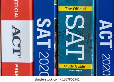 Freeport Illinois March 30 2020 Standardized test prep books such as the ACT  and SAT tests