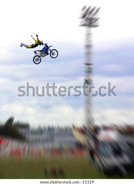 Freestyle motorcross stunt