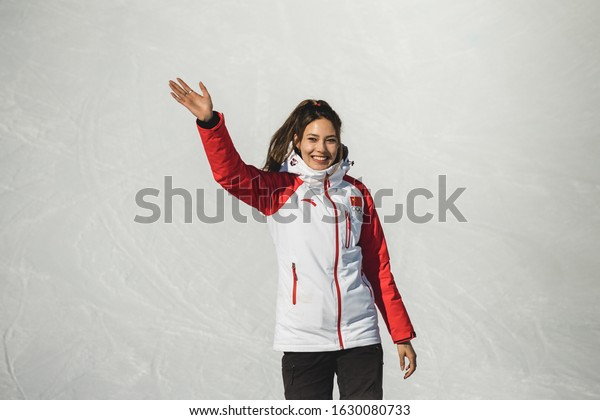 Freestyle Skiier Eileen Gu at Youth Olympic Games in Lausanne, Switzerland - January 2020