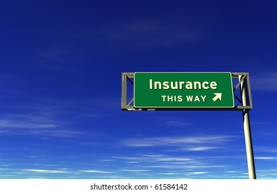 Freeway Exit Sign - Insurance