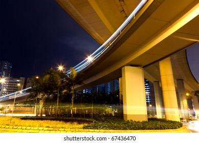 freeway at night