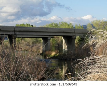 Freeway overpass on Truckee River outside of Fernley