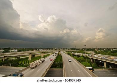 freeway overpasses and bridges.