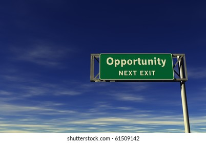 Freeway Sign - Opportunity!