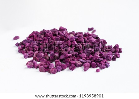 Freeze Dried Purple Vegetables Stock Photo (Edit Now