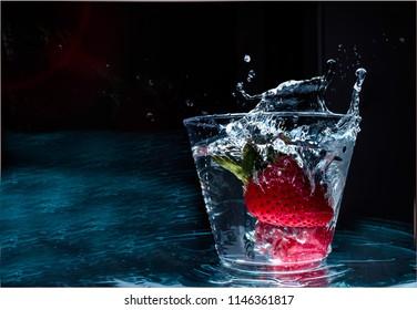 Freeze Frame - Strawberry in glass