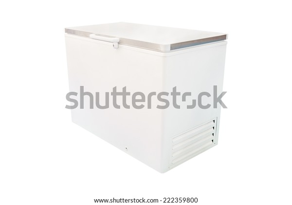 freezer under the white background