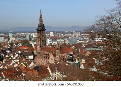 Freiburg Minster, a medieval church in the city of Freiburg, at the edge of the Black Forest, Germany
