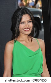 "Freida Pinto at the Los Angeles premiere of her new movie ""Rise of the Planet of the Apes"" at Grauman's Chinese Theatre, Hollywood. July 28, 2011  Los Angeles, CA Picture: Paul Smith / Featureflash"