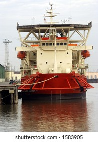 Freight boat in docked in New Orleans