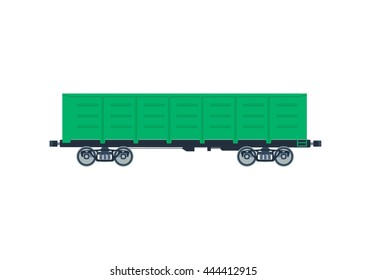 Freight railroad boxcar. Vector illustration isolated on a white background