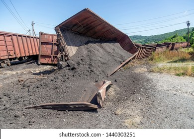 Freight train derailment, no injuries and no hazardous materials leaked from the train. Mechanical problems and track conditions are to blame for a train derailment. Abstract: Transportation Safety.