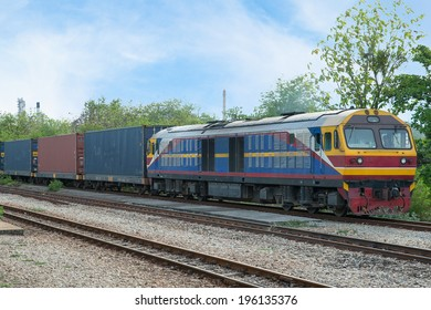 Freight train into industry zone  for Logistic Import Export background