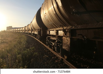 freight train, with selective focus