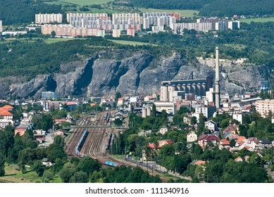 freight train station Usti nad Labem - Strekov -  Czech Central Mountais, Czech Republic
